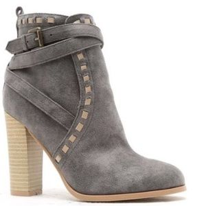 Other - grey suede ankle booties
